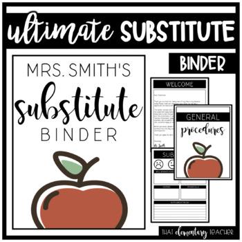 The ULTIMATE Substitute Binder - EDITABLE