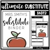 The ULTIMATE Substitute Binder   EDITABLE