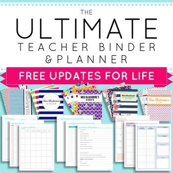 Online Teacher Planner 2018-2019 Worksheets & Teaching