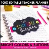 Editable Teacher Binder and Planner: FREE UPDATES & Google Compatible!