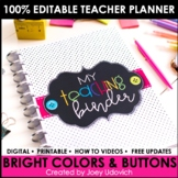 Editable Teacher Binder and Planner: FREE UPDATES & Google