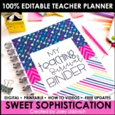Editable Teacher Binder: Sweet Sophistication Theme {FREE UPDATES}