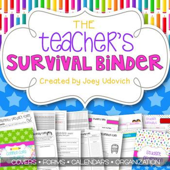 Editable Teacher Binder: The Colors of Teaching Theme {FRE