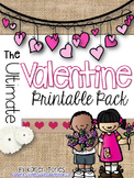 Valentine's Day Printable Pack {Kindergarten}