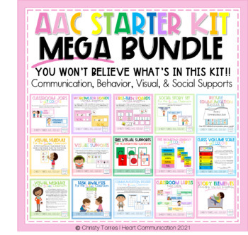 AAC Starter Kit for Autism - Social, Communication & Behavior Mega Bundle