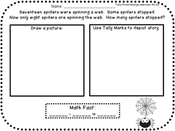 The ULTIMATE Word Problem Pack 1st grade Edition {{Set 2}}