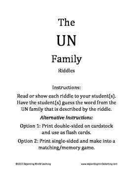 The UN Family Riddles