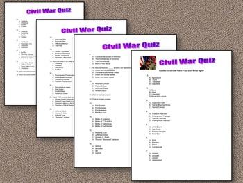 The U.S. Civil War Assessment- Context Clues & Primary Sources