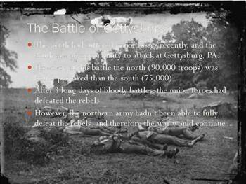 The US Civil War Power Point Presentation