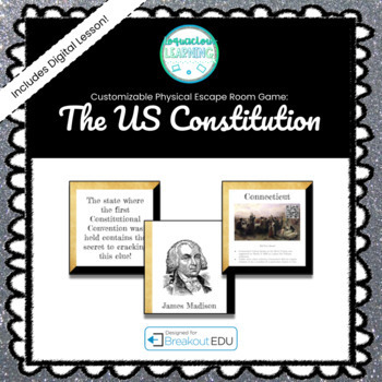 The US Constitution Customizable Escape Room / Breakout Game