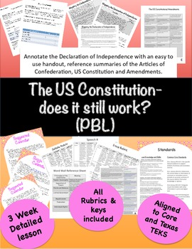 The US Constitution- Does it still work? (PBL)