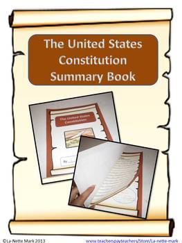 Constitution Day PowerPoint with Corresponding Summary Book