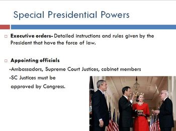 The U.S. Presidency PowerPoint Lesson