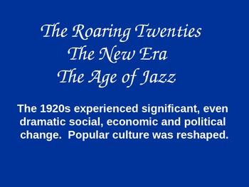 The U.S. in the Roaring Twenties