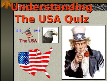 The USA 1918 to 1941 Quiz