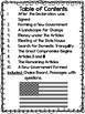 The USA Constitution Reading Comprehension Passages and Choice Board