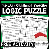 Christmas Logic Puzzle Free Activity