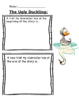 The Ugly Duckling Character Traits