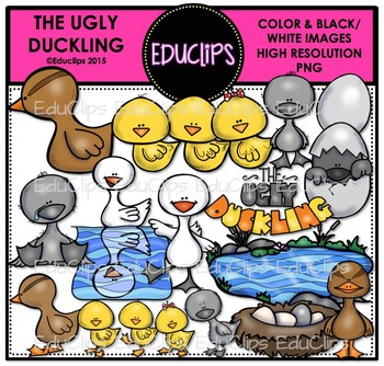 The Ugly Duckling Clip Art Bundle {Educlips Clipart}