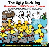 The Ugly Duckling Clip Art for Personal and Commercial Use