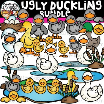 The Ugly Duckling Clipart Bundle {Reading Clipart}