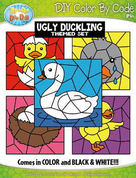 The Ugly Duckling Color By Code Clipart {Zip-A-Dee-Doo-Dah Designs}