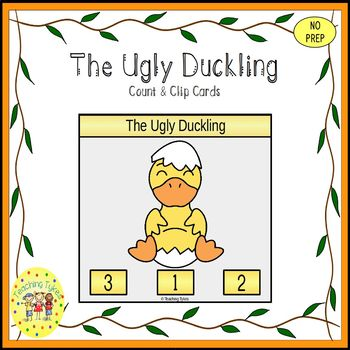 The Ugly Duckling Fairy Tales Count and Clip Task Cards