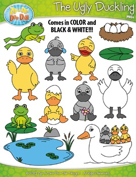 {FREE} The Ugly Duckling Fairy Tale Clip Art Set — Over 40