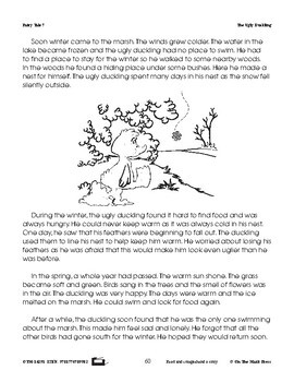 The Ugly Duckling Fairy Tale Literacy Building Lesson Gr. 1-3