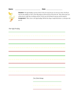 The Ugly Duckling Personal Letter Template