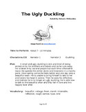 The Ugly Duckling - Small Group Reader's Theater