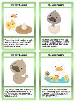 The Ugly Duckling Story, Cloze Reading, Sequence and Matching