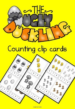 The Ugly Duckling counting clip cards