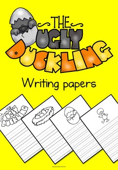 The Ugly Duckling writing papers and bonus wordmat