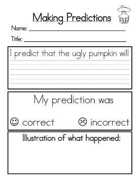 The Ugly Pumpkin Book Activities