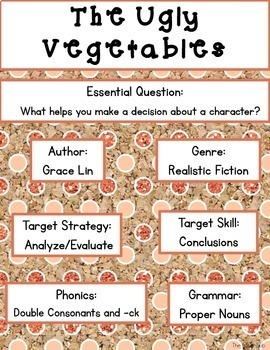 The Ugly Vegetables: Journeys Unit 2 Lesson 7 Supplemental Resources