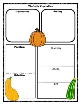 The Ugly Vegetables Story Map Graphic Organizer