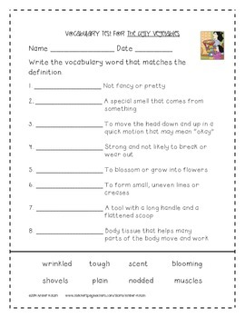 The Ugly Vegetables Supplemental Activities 2nd Grade