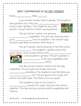 The Ugly Vegetables Supplemental Activities 2nd Grade Journeys Unit 2, Lesson 7