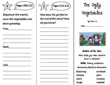 The Ugly Vegetables Trifold - Journeys 2nd Grade Unit 2 Week 2 (2011)