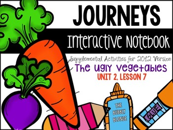 The Ugly Vegetables Unit 2, Lesson 7 Journeys Print & Go with Interactive Pages