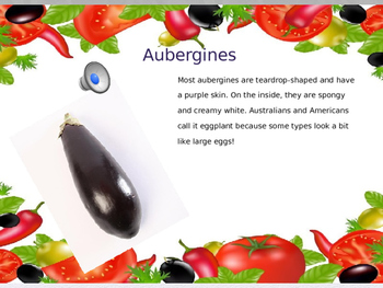 The Ugly Vegetables writing activity: Write to inform