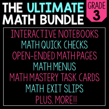 The Ultimate 3rd Grade Math Bundle