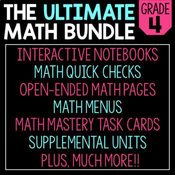 The Ultimate 4th Grade Math Bundle