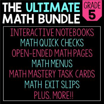 The Ultimate 5th Grade Math Bundle