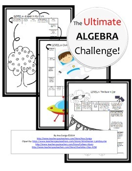The Ultimate Algebra Challenge - Review Activity
