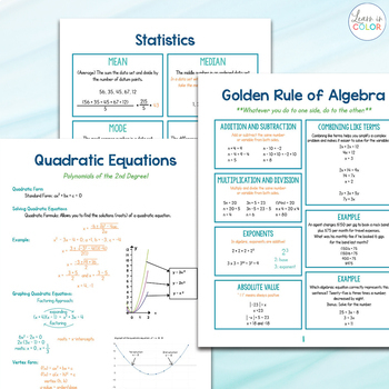 The Ultimate Algebra Cheat Sheets