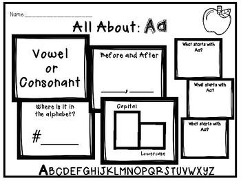 The Ultimate Alphabet Center: Aa (Freebie)