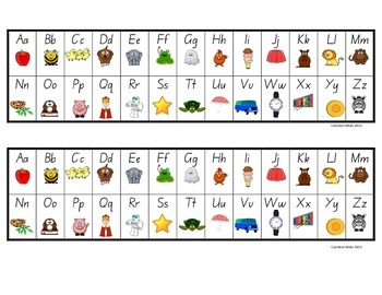 """The Ultimate Alphabet Desk Strips"""