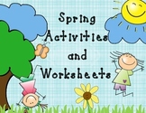 Spring Activities and Worksheets